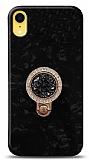 iPhone XR Mozaik Yüzüklü Siyah Silikon Kılıf