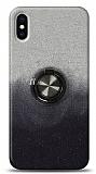 iPhone XS Max Simli Yüzüklü Siyah Silikon Kılıf