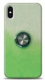 iPhone XS Max Simli Yüzüklü Yeşil Silikon Kılıf