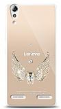 Lenovo A6000 Angel Death Taşlı Kılıf