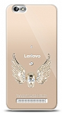 Lenovo Vibe C A2020 Angel Death Taşlı Kılıf
