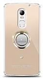 Lenovo Vibe X3 Gold Tutuculu Taşlı Şeffaf Kılıf