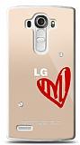 LG G4 3 Taş Love Kılıf