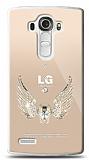 LG G4 Angel Death Taşlı Kılıf