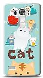 LG G4 Beat Üç Boyutlu Sevimli Kedi Kılıf