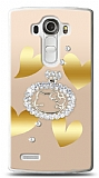 LG G4 Lovely Kitty Taşlı Kılıf