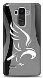 LG G4 Stylus Siyah Beyaz Kartal Kılıf
