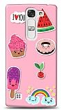 LG G4c Pink Stickers Kılıf