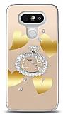 LG G5 Lovely Kitty Taşlı Kılıf