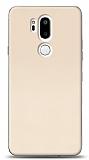 LG G7 ThinQ Tam Kenar Koruma Gold Rubber Kılıf