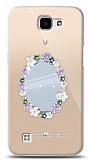LG K4 Çiçekli Aynalı Taşlı Kılıf
