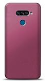 LG K50S Mürdüm Mat Silikon Kılıf