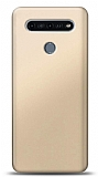 LG K51S Gold Mat Silikon Kılıf