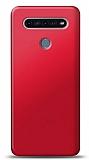 LG K51S Kırmızı Mat Silikon Kılıf