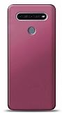 LG K51S Mürdüm Mat Silikon Kılıf