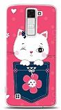 LG K8 Pink Cat Kılıf
