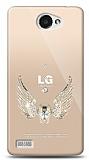 LG L Bello 2 Angel Death Taşlı Kılıf