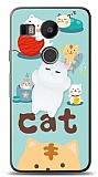 LG Nexus 5X Üç Boyutlu Sevimli Kedi Kılıf