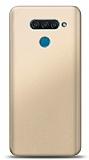 LG Q60 Gold Mat Silikon Kılıf