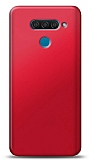 LG Q60 Kırmızı Mat Silikon Kılıf