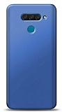 LG Q60 Lacivert Mat Silikon Kılıf