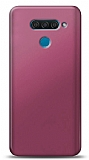 LG Q60 Mürdüm Mat Silikon Kılıf