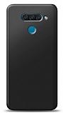 LG Q60 Siyah Mat Silikon Kılıf
