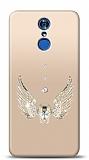 LG Q7 Plus Angel Death Taşlı Kılıf