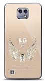 LG X cam Angel Death Taşlı Kılıf