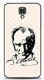 LG X screen Atatürk Silüet İmza Pembe Kılıf