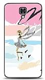 LG X screen Wing Girl Taşlı Kılıf