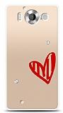 Microsoft Lumia 950 3 Taş Love Kılıf