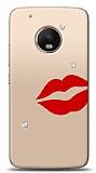 Motorola Moto G5 Plus 3 Taş Dudak Kılıf