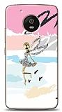 Motorola Moto G5 Wing Girl Taşlı Kılıf