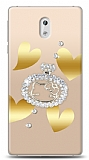 Nokia 3 Lovely Kitty Taşlı Kılıf