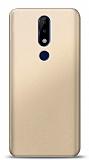 Nokia 5.1 Plus Gold Mat Silikon Kılıf