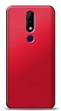 Nokia 5.1 Plus Kırmızı Mat Silikon Kılıf