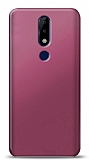 Nokia 5.1 Plus Mürdüm Mat Silikon Kılıf