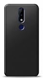 Nokia 5.1 Plus Siyah Mat Silikon Kılıf