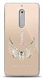 Nokia 5 Angel Death Taşlı Kılıf
