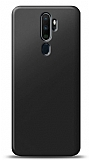 Oppo A5 2020 Siyah Mat Silikon Kılıf