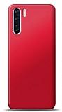 Oppo A91 Kırmızı Mat Silikon Kılıf