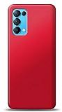 Oppo Reno 5 5G Kırmızı Mat Silikon Kılıf