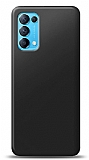 Oppo Reno 5 5G Siyah Mat Silikon Kılıf