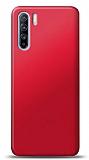 Oppo Reno3 Kırmızı Mat Silikon Kılıf