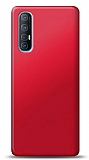 Oppo Reno3 Pro Kırmızı Mat Silikon Kılıf