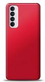 Oppo Reno4 Pro Kırmızı Mat Silikon Kılıf