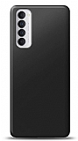 Oppo Reno4 Pro Siyah Mat Silikon Kılıf