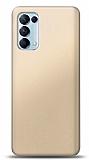 Oppo Reno5 Pro 5G Gold Mat Silikon Kılıf