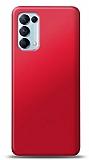 Oppo Reno5 Pro 5G Kırmızı Mat Silikon Kılıf
